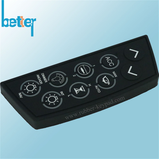 Customize Elastomer Rubber Silicone Laser Etching Keypad