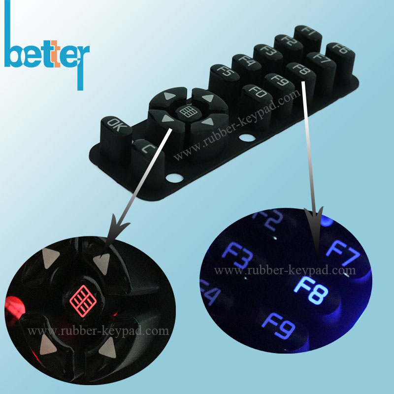 Customize Laser Cutting Rubber Button Pad