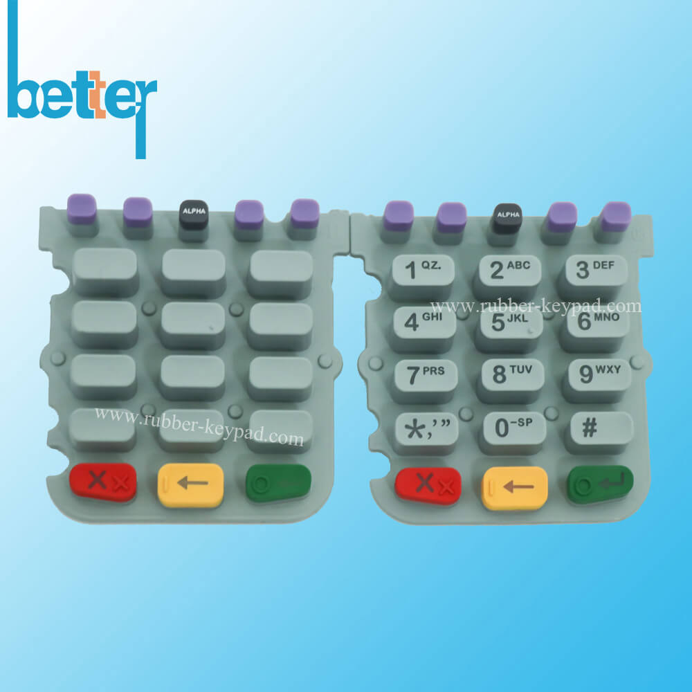 PU Coated Silicone Rubber Keypad