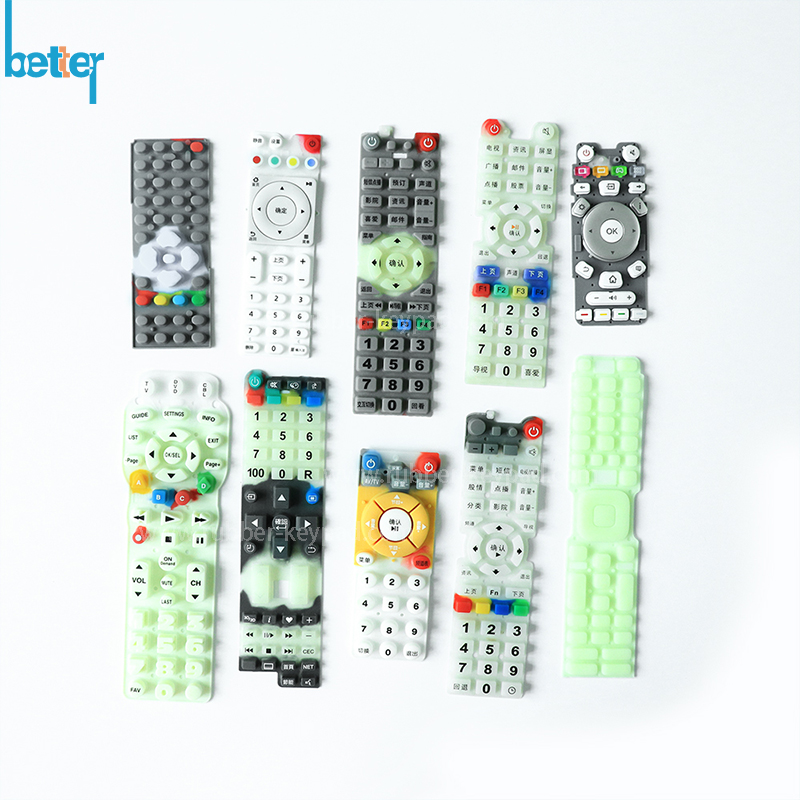 Custom TV Remote Control Silicone Rubber Keypad