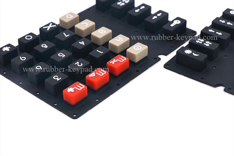 overmolded rubber keypad