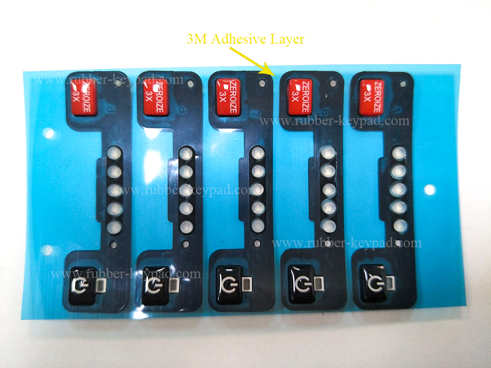 3M Adhesive Silicone Buttons