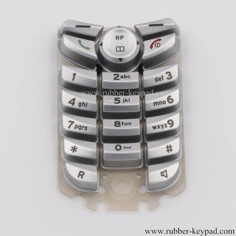 Silicone Keypad with Plastic Button Caps